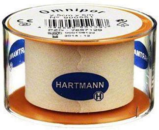 Хартманн омнипор пластырь фиксирующий 5мх2,5см нетканая основа белый