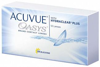 Акувью оазис линзы контактные r8.4 -2,25 12 шт.