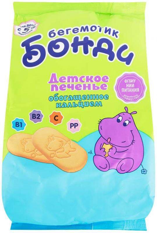 Бегемотик бонди печенье детское с кальцием 5+ 180г, фото №1