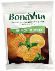 Бона вита карамель леденцовая лимон/мята 60г