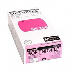 Мануал нитрил перчатки смотровые нестерильные неопудренные sn209 размер m 50 шт. пар