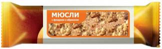 Мюсли-батончик от природы фундук/абрикос на фруктозе 25г