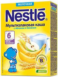 Нестле каша молочная мультизлаковая яблоко/банан 6+ 220г