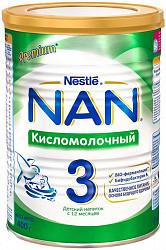 Нестле нан кисломолочный 3 смесь молочная 400г