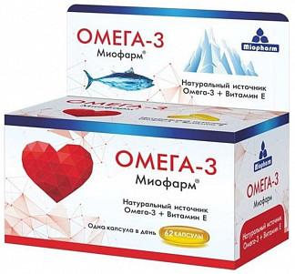 Омега-3 миофарм капсулы 62 шт.