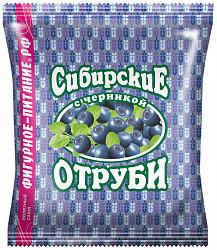 Отруби сибирские овсяные с черникой 200г