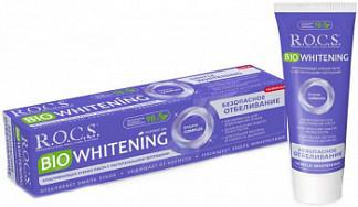 Рокс биовайтнинг зубная паста безопасное отбеливание 75мл/94г