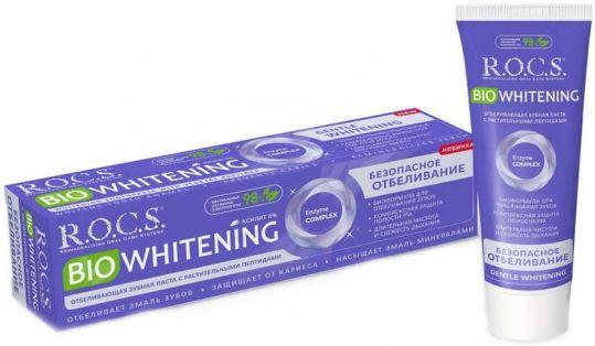 Рокс биовайтнинг зубная паста безопасное отбеливание 75мл/94г, фото №1
