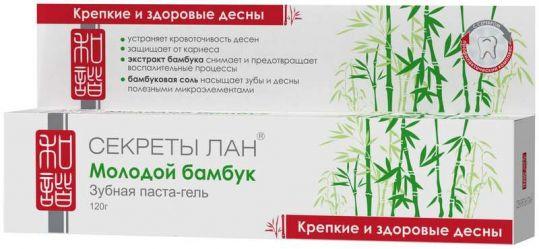 Секреты лан зубная паста молодой бамбук.крепкие и здоровые десны 120г, фото №1