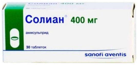 Солиан 400мг 30 шт. таблетки, фото №1