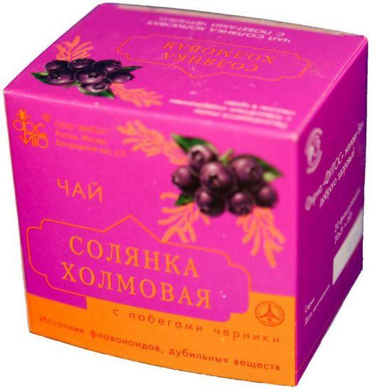 Солянка холмовая чай с черникой 3г 20 шт., фото №1