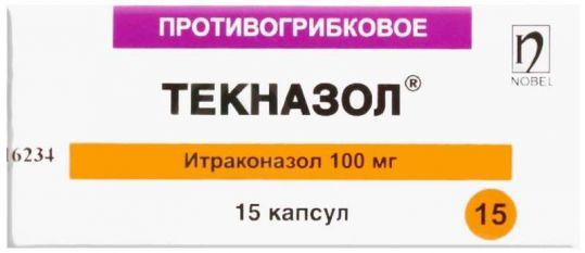 Текназол 100мг 15 шт. капсулы, фото №1