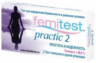 Фемитест тест-полоска для определения беременности дабл контрол 2 шт.