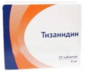 Тизанидин 4мг 30 шт. таблетки