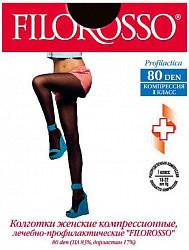 Филороссо профилактика колготки компрессионные лечебно-профилактические 80den 1класс размер 6 черные