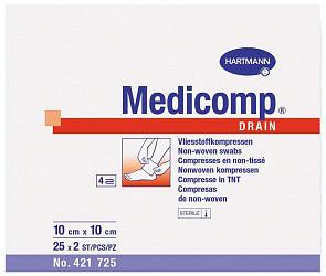 Хартманн медикомп салфетки марлевые стерильные 10х10см 2 шт.
