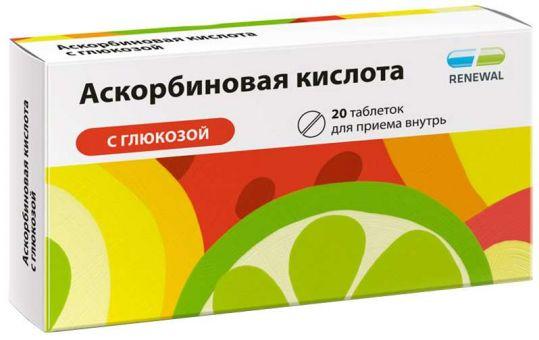 Аскорбиновая кислота с глюкозой 40 шт. таблетки, фото №1