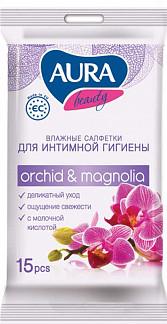 Аура салфетки влажные для интимной гигиены 15 шт.