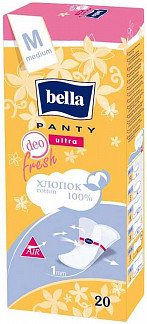 Белла панти ультра прокладки ежедневные ладж 20 шт.
