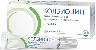 Колбиоцин 5г мазь глазная