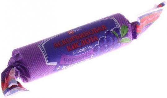 Аскорбиновая кислота таблетки черника бад 10 шт. крутка, фото №1