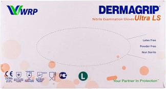 Дермагрип ультра нитрил перчатки нитриловые нестерильные неопудренные размер l 100 шт. пар