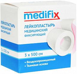 Медификс лейкопластырь фиксирующий 3х500см на тканой основе белый