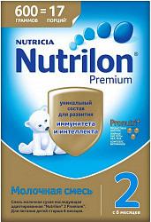 Нутриция нутрилон премиум 2 смесь молочная 600г
