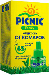 Пикник фэмили жидкость от комаров 45 ночей 30мл