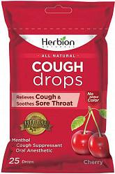 Хербион леденцы без сахара вишневые с маслом эвкалипта/витамином с 62,5г 25 шт.
