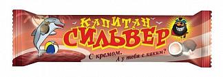 Капитан сильвер батончик кокосовый в шоколадной глазури с кремом 50г