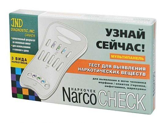 Наркочек тест мультипанель опиаты/марихуана/амфетамин 3 вида, фото №1