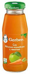 Гербер (gerber) сок яблочно-морковный 175мл