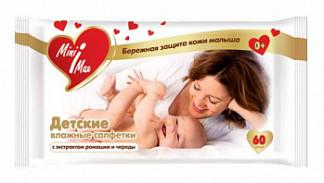 Минимакс (minimax) салфетки влажные детские ромашка/череда №60