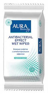 Аура бьюти салфетки влажные антибактериальные 72 шт.