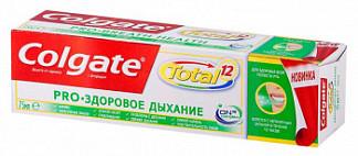 Колгейт зубная паста тотал 12 про здоровое дыхание 75мл