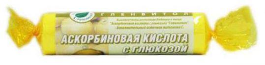 Аскорбиновая кислота с глюкозой гленвитол таблетки 100мг лимон 10 шт. стрип, фото №1