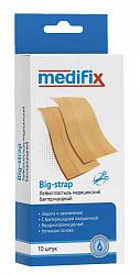 Медификс биг-стрэп лейкопластырь бактерицидный нетканый телесный (натуральный) 6х10см 10 шт.