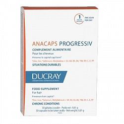 Дюкрэ анакапс прогрессив капсулы для волос и ногтей 30 шт.