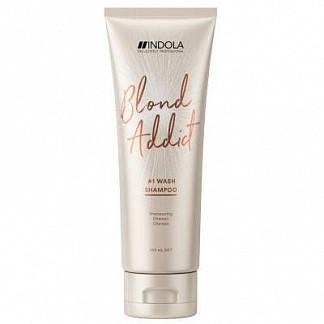 Индола блонд эддикт шампунь оттеночный для светлых волос пинкроуз 250мл