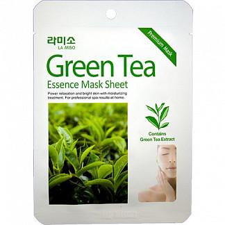 Ла мисо маска для лица с экстрактом зеленого чая 21г