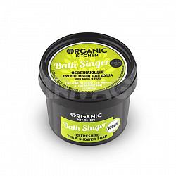 Органик шоп китчен мыло густое для волос/тела освежающее бас сингер 100мл