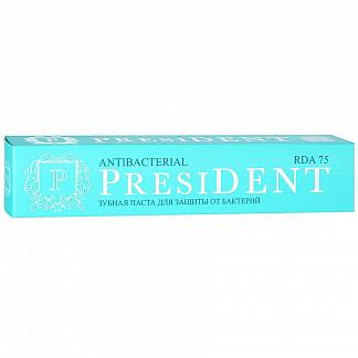Президент антибактериал зубная паста мощная защита от бактерий 75мл