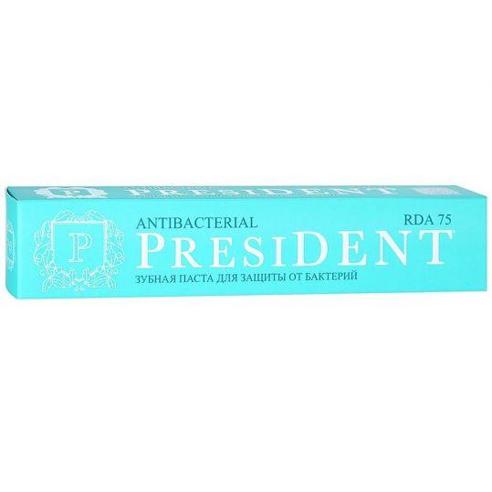 Президент антибактериал зубная паста мощная защита от бактерий 75мл, фото №1