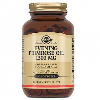 Солгар примулы вечерней масло капсулы 1300мг 30 шт.
