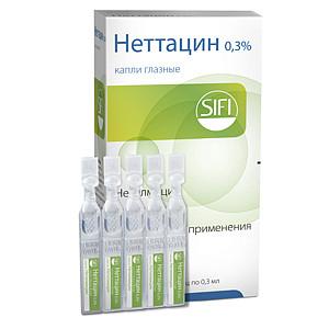 Неттацин 0,3% 5мл капли глазные