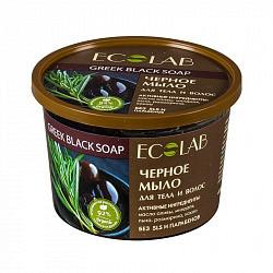 Эколаб мыло для тела и волос черное 450мл