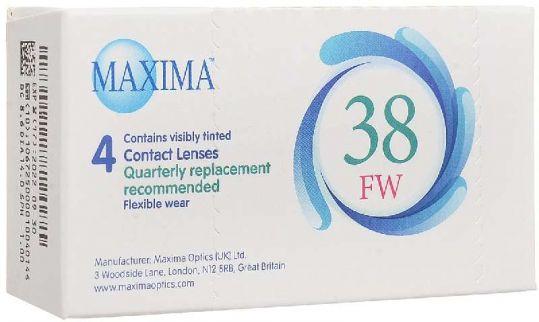 Максима линзы контактные мягкие 38 fw 8,6 (-1,00) 4 шт., фото №1