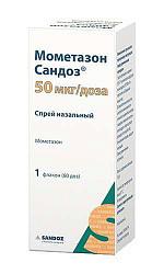 Мометазон сандоз 50мкг/доза 60доз спрей назальный