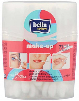Белла коттон ватные палочки для макияжа n72+16